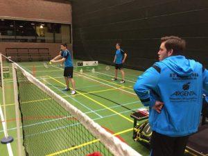 Badmintonteam Halle badminton Tervuren VVBBC Sportcomplex De Bres winst Kevin Van Cutsem Maarten Francois Bavo Barbé