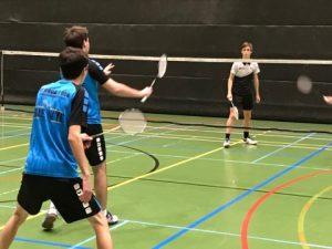 Badmintonteam Halle zege winst Dijlevallei BC De Bres overwinning 1H VVBBC Vlaams-Brabant