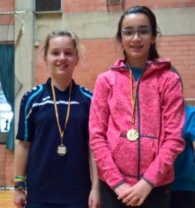 Ariana Schoeters goud winst jeugdtoernooi Badmintonteam Halle Badminton Scherpenheuvel VVBBC Vlaams-Brabant