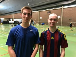 Nationaal Toernooi Badmintonteam Halle badminton De Bres Nathan Vervaeke Heren Enkel A klassement