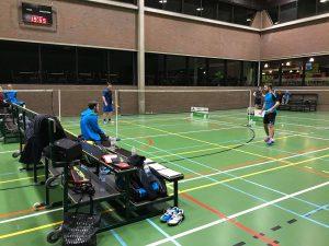 3H Kevin Van Cutsem Bavo Barbé Tom Lambert Sander Scheurwater Badmintonteam Halle Londerzeel LoB Sportcomplex De Bres stad Halle