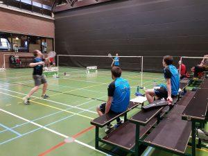 3H Kevin Van Cutsem ploegkapitein winst BC Dilbeek Badmintonteam Halle De Bres