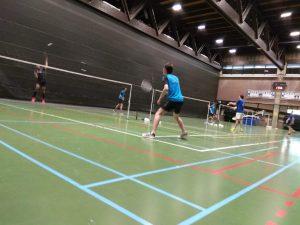 Badminton Halle Brussel winst De Bres BT Halle