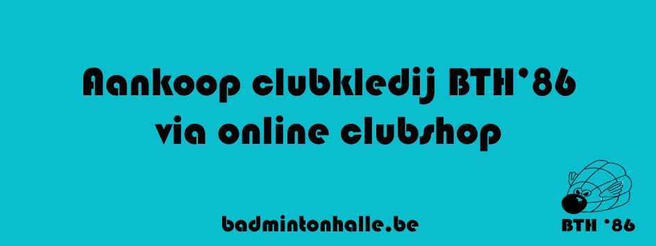 online clubshop webshop Badmintonteam Halle '86 badminton Halle clubkledij kledij badmintonkledij Erima dames heren jeugd
