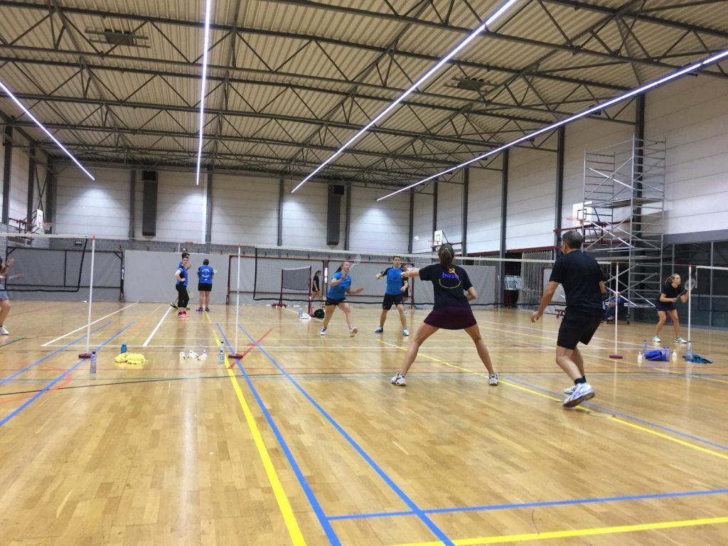 Badmintonteam Halle '86 VVBBC Gemengde competitie Zoutleeuw badminton Halle