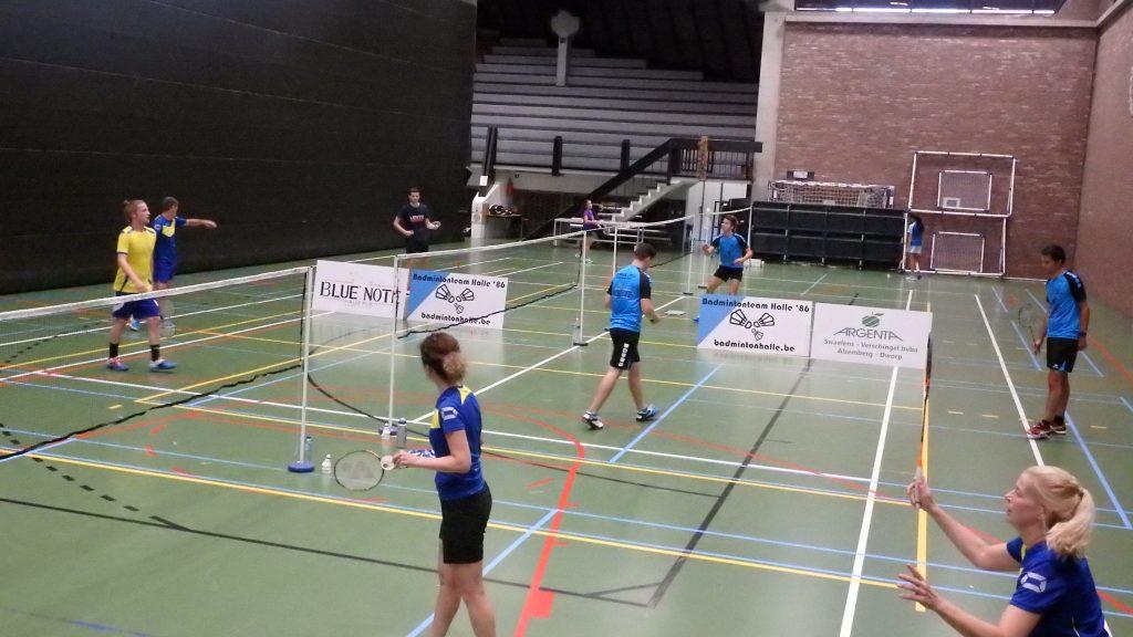 Gemengde competitie VVBBC 2018-2019 Badmintonteam Halle '86 badminton halle De Bres Stad Halle 1500