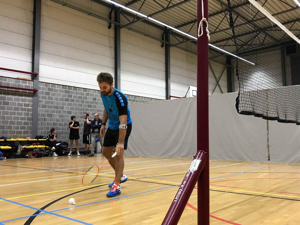 Badmintonteam Halle '86 badminton Halle De Bres Sportcomplex Tom Lambert sportdienst Halle