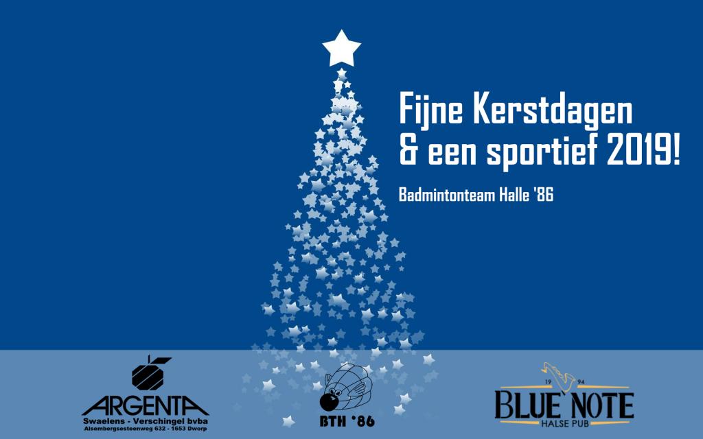 Badmintonteam Halle badminton De Bres Halle eindejaarsshopping verenigde handelaars Halle winkelstad Blue Note Pub Argente Dworp Halle