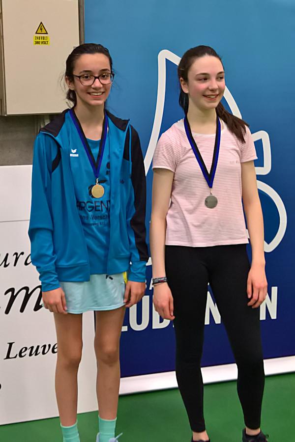 VVBBC Cup Lubbeek goud dames Badmintonteam Halle '86 jeugd jeugdopleiding Argenta Dworp Alsemberg