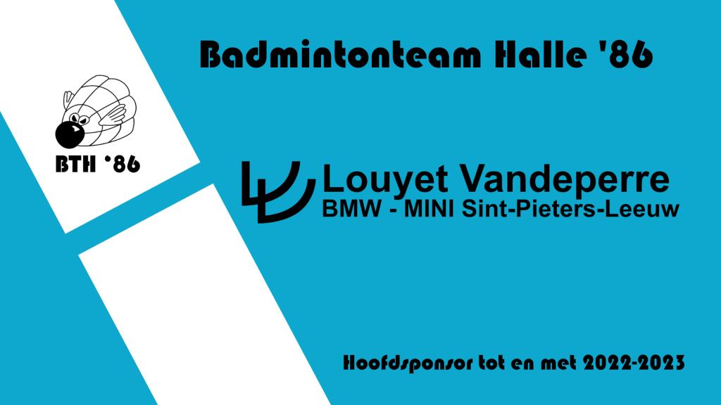 BMW MINI Louyet Vandeperre Sint-Pieters-Leeuw Laurent Louyet Badmintonteam Halle '86 De Bres badminton
