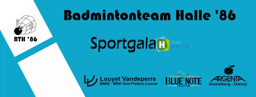 sportgala stad halle Badmintonteam Halle '86 kampioen jeugdkampioenen De Bres CC 't Vondel