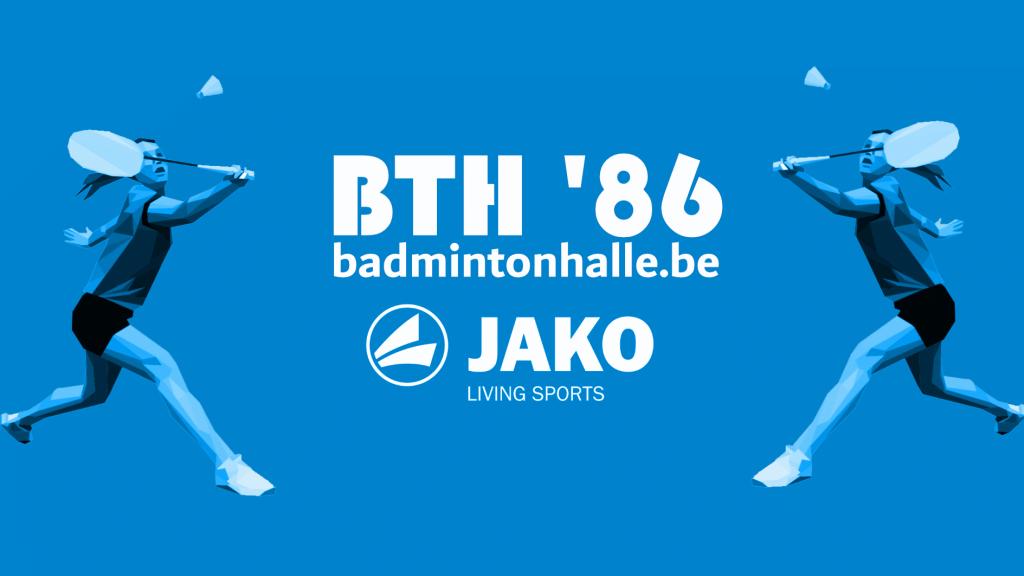Jako recreatief badminton jeugd jeugdspelers competitie VVBBC Liga Badminton Vlaanderen BTH '86 De Bres Halle