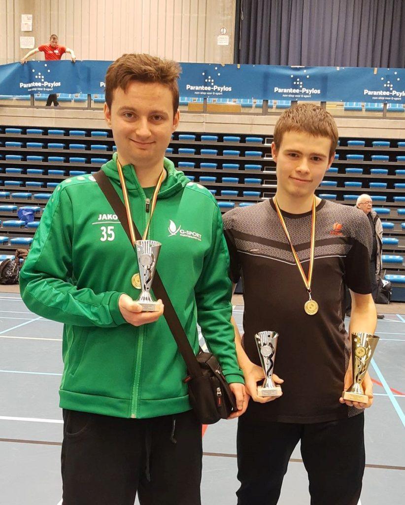 Belgisch kampioen G-badminton Badminton Halle BTH '86 Badmintonteam Halle Michaël Adams