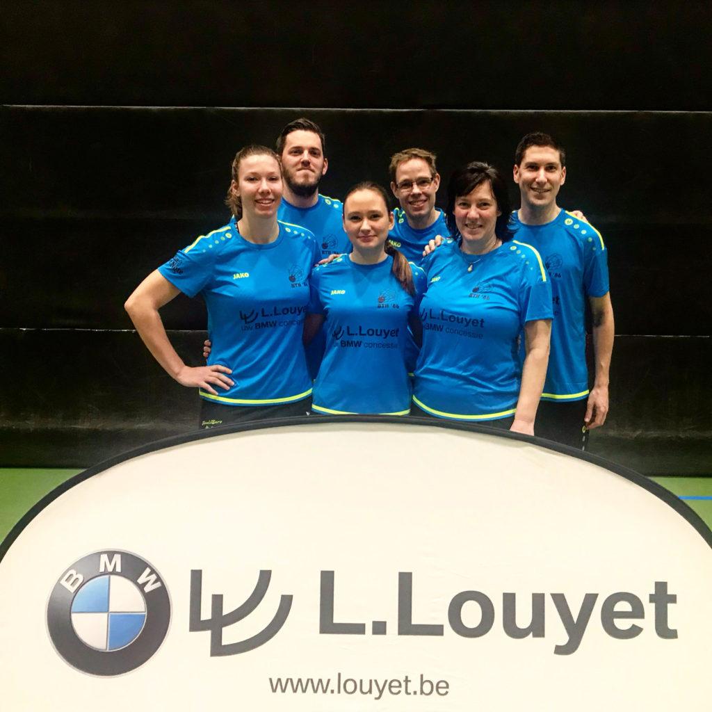 Seizoen 2020-2021 Badmintonteam Halle '86 BTH '86 recreatief badminton jeugd competitie 1G gemengde ploeg Kevin Van Cutsem