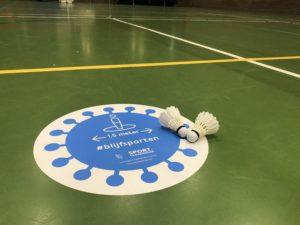 Competitie badminton Halle BTH '86 Sportcomplex De Bres