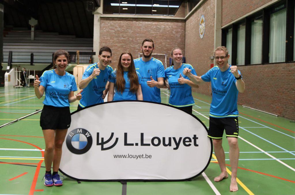 Sportcomplex De Bres Halle BMW Louyet BTH '86 Mixploeg Gemengde competitie VVBBC Badminton Vlaanderen Crystalstick International