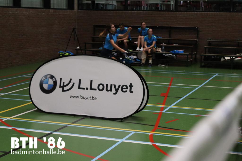 Badmintonteam Halle '86 Sportcomplex De Bres BMW L. Louyet Stad Halle VVBBC Badminton Vlaanderen badminton competitie