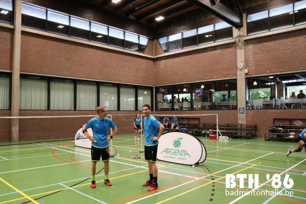 BTH '86 VVBBC Kevin Van Cutsem Sander Scheurwater Badminton Vlaanderen badminton Halle Sportcomplex De Bres Seizoen 2020-2021