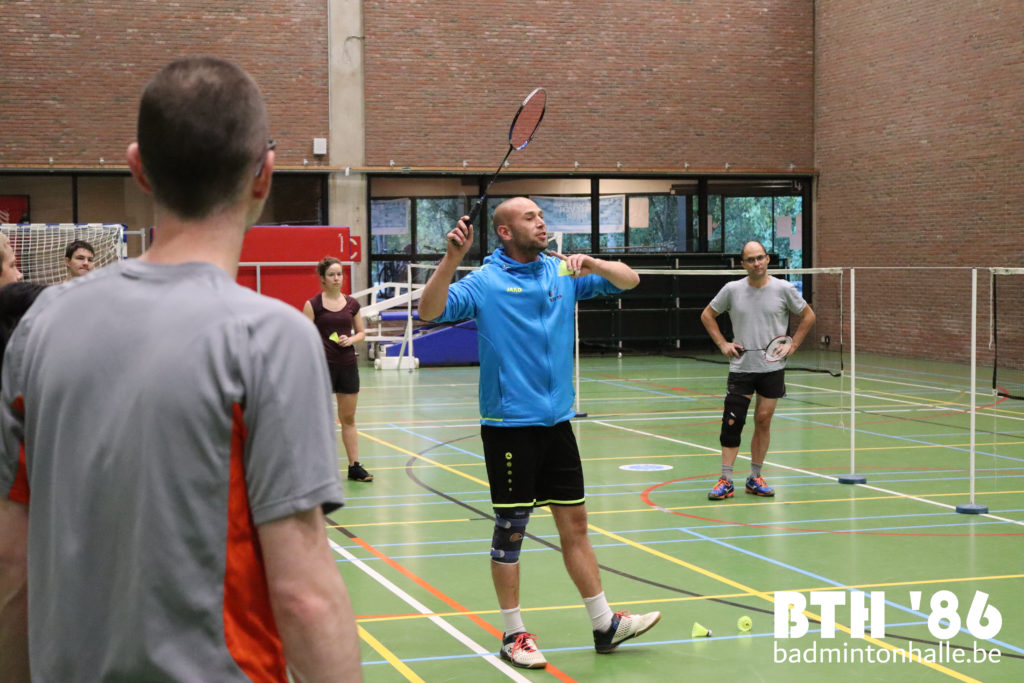 Start 2 BAdminton Competitietraining BAdmintonteam Halle '86 Sportcomplex De Bres