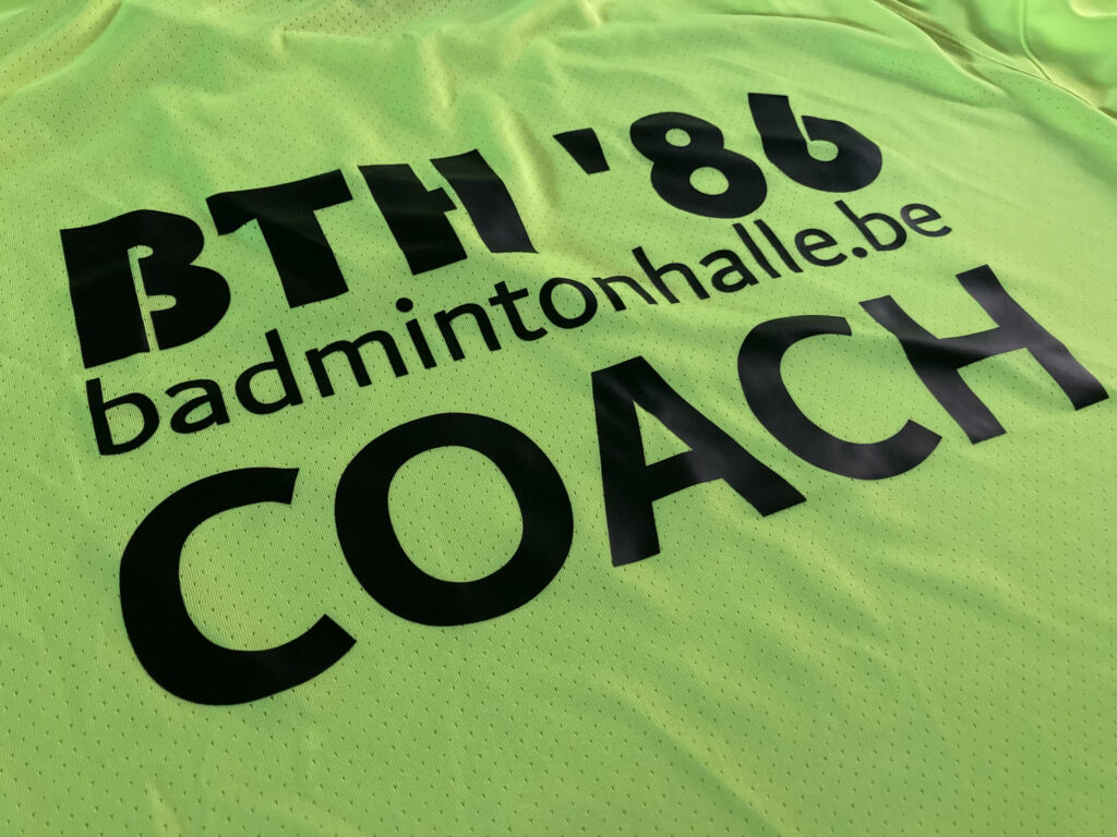 Trainersstaf BTH '86 Badmintonteam Halle '86 jeugdwerking jeugd jeugdopleiding kids