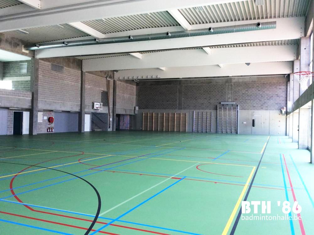 Sporthal GO Technisch Atheneum Badmintonteam Halle '86 BTH '86 recreatief badminton competitie jeugd Sportdienst Halle
